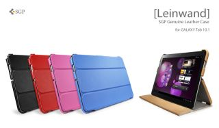 SAMSUNG GALAXY TAB 10.1 P7510 SGP LEINWAND LEATHER STAND CASE COVER
