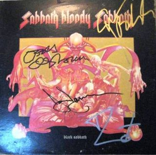 RARE Black Sabbath Whole ORG Band Signed LP Certified by GAI Global