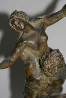 Bronze Figura Serpentinata Raub Der Sabinerin