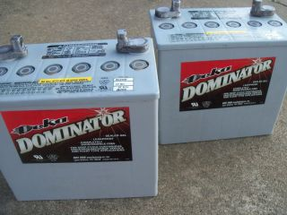 Group 22 Batteries 51Ah Deka Dominator Sealed Gel Electric Wheelchair