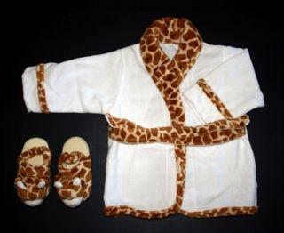 Childs Tiger Bathrobe Slippers New Great Gift Birthday