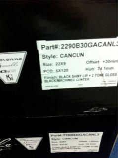 22 22x9 Gianelle Cancun Wheels Rims 5x120 Chevy Camaro