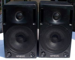 ONE PAIR GENELEC 1029A SPEAKERS ACTIVE MONITORS ORIGINAL MANUAL AND