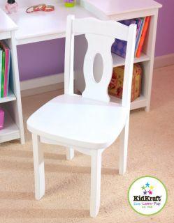 KidKraft Girls Deluxe White Mirror Vanity Table Stool Chair Set 13018