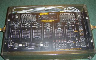 Gemini PreAmp Mixer PDM 7008 Used VGC DJ Equipment Wood Box Case