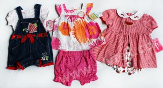 NWT Baby Girls Summer Clothes 6m Lot 5pc Carters Outfit NEW Overall