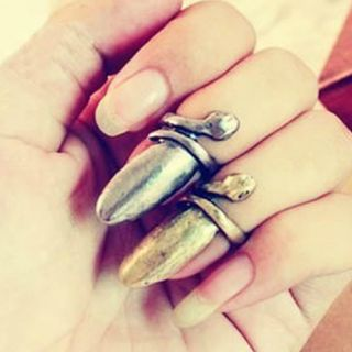 Rock Gothic Snake Stylish Girl Lady Fingertip Finger Nail Ring