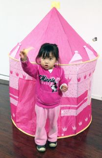 Fairy Princess Castle Playhut Tent Kids Pink Play PopUp Tent Girl