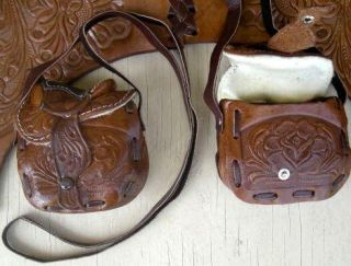 YOUNG LADYS GIRLS WESTERN HORSE SADDLE HANDBAG PURSE (#160459512548)