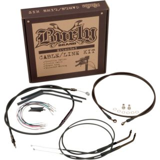 Burly 12 Apes Extended Cable Line Kits Harley XL Sportster Models 2004
