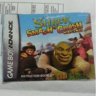 Classic Shrek Gameboy Advance SP DS GBA Game Boy Games