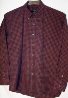Gitman Bros Tharringtons Mens Button Front Dress L s Shirt L