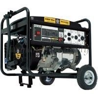 SP GG600 6000W Gas Powered Portable Generator w Wheel Kit
