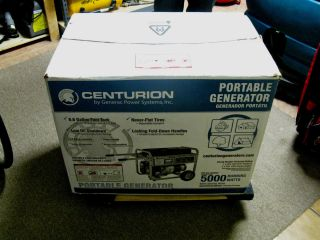 CENTURION BY GENERAC POWER SYSTEMS 5000W PORTABLE GENERATOR NEW LOCAL