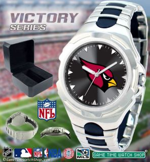 NFL Mens Game Time Victory Sports Logo Watch Adjustable Sport Buckle