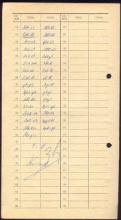 Chess Score Sheet 1970 Karpov Zaitsev Signed 38th Championship of USSR