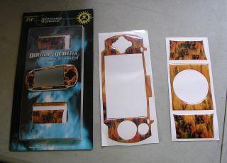 B24 PSP SKIN HELL FIRE SKULLS GAMER GRAFFIX GET SKINNED REUSABLE