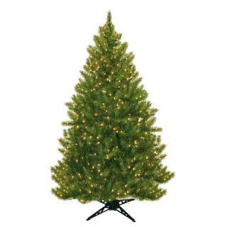 General Foam Plastics Evergreen Fir Prelit Christmas Tree with 450