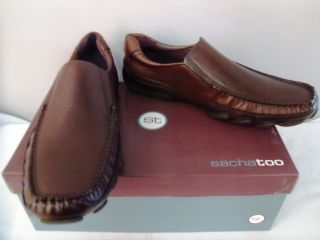 Sacha Too Geoffrey Loafer Driving Shoe Brown Leather 11 M