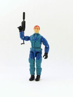 1992 Ace Battle Copter Pilot with Machine Gun GIJOE Action FIgure Toy