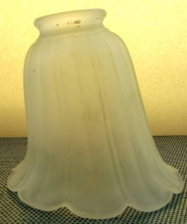 Vintage Glass Lamp Shade Offset Frosted 5 Replacement