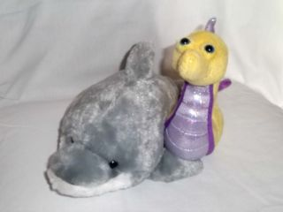 GANZ WEBKINZ Plush DOPHIN & SEAHORSE Ocean NO CODE Stuffed Animal LOT
