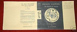 CS Lewis   PRINCE CASPIAN   The Return To Narnia   Facsimile D/J Only
