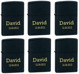 Pcs Personalized Genuine Zippo Matt Black Lighter Groomsmen Gifts