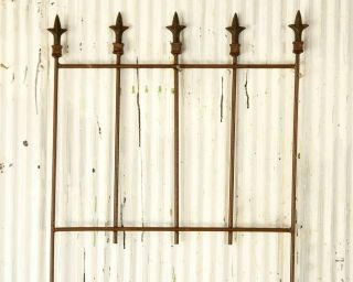 Wrought Iron New Orleans Fence Garden Border or Trellis for Flowers