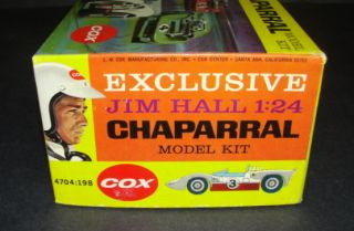 1966 Cox Chaparral 1 24 Scale Kit Unbuilt SEALED in Original Box