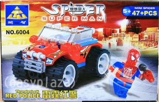 Spiderman 6004 6005 2 x Sets Building Blocks Bricks Set Spider Man Toy