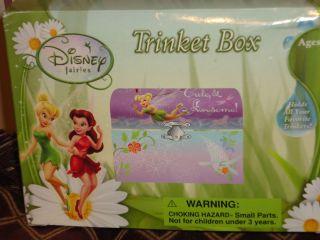 TINKERBELL FAIRIES GIRLS TRINKET JEWELRY BOX WITH FIGURINE MIRROR NWT