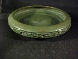 Arts Crafts Matte Green Pottery Bowl Peters Reed Pereco
