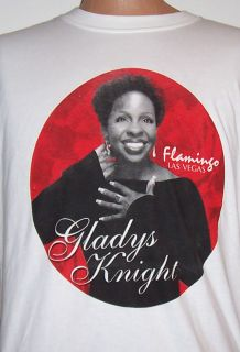 RARE Gladys Knight Las Vegas Flamingo Promo T Shirt L New
