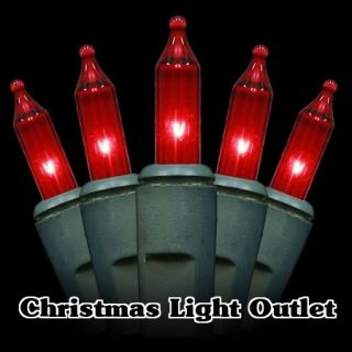 35 Mini Red Glass Block Christmas Craft String Lights