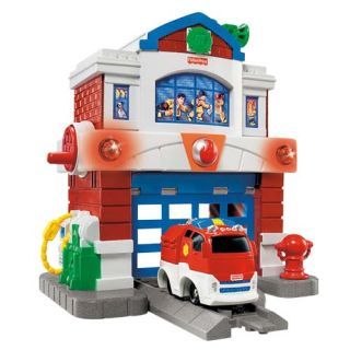 Geotrax Beamtown Fire Station lot with Rapid Rescue Fire Squad
