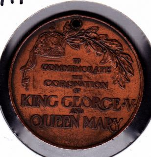 1911 WR King George V Queen Mary Coronation Medal
