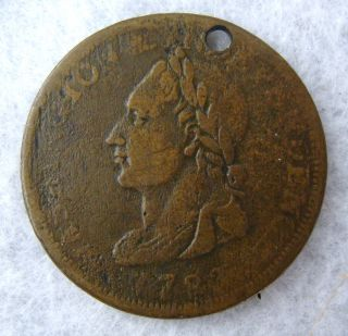 Antique 1783 George Washington 1 Cent Copper Colonial Coin