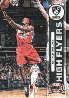 13 Panini reads High Flyers 26 Gerald Wallace Brooklyn Nets