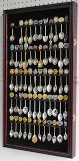 60 Spoon Display Case Rack Holder Cabinet, Wall Mountable, Glass Door