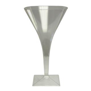 Piece Square Plastic 8 oz Martini Glasses 36 Pieces