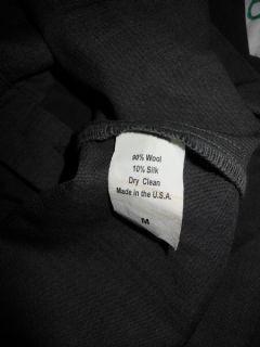 Geren Ford  Dark Gray Baby Doll Style Sleeveless Wool