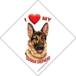 New Sign for Window Car I Love My German Shepherd Dog