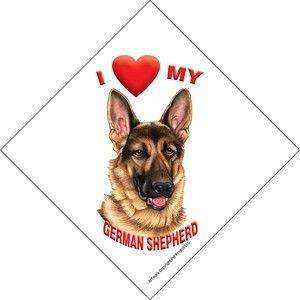 New Sign for Window Car I Love My German Shepherd Dog