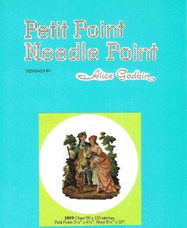 Alice Godkin Chart 1019 Victorian Man Woman Petit Point Needlepoint