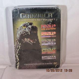 Godzilla Collectors Set Vol 1 DVD Brand New 5 Movies on 3 DVDs