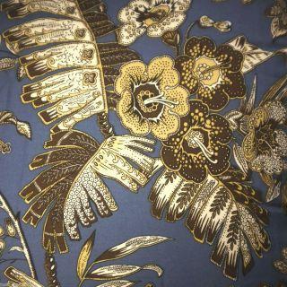 LAUREN BLUE TROPICAL 4pc QUEEN COMFORTER SET *NEW* GOLD BROWN FLORAL