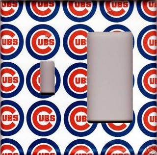 Chicago Cubs Double Light GFI Switch Plate Cover