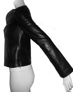 Trend Alert Gianni Versace Couture Leather Fitted Shirt Top Jacket 38