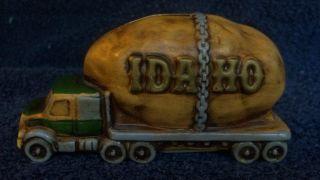 Vintage Ceramic Piggy Coin Bank Giant Idaho Potato on Truck Japan